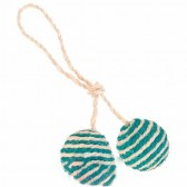 2 pelotas cuerda sisal con catnip