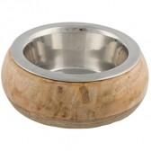 Comedero acero inox marco madera