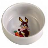 Comedero conejos decorado