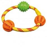 Denta fun anillo cuerda con pelotas