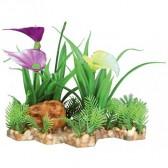 Plantas plástico base grava 13cm