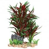 Plantas plástico con grava 18cm