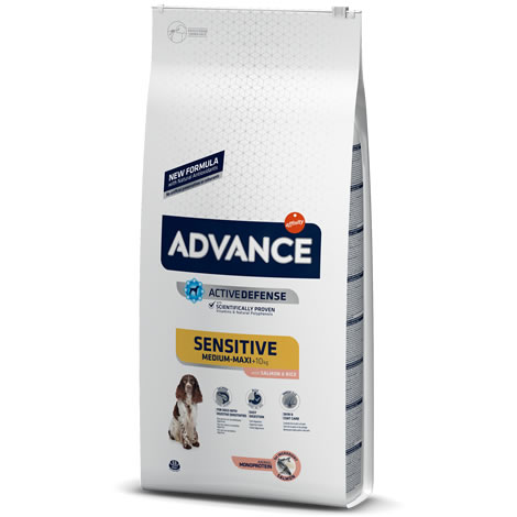Pienso para perros Advance Sensitive Salmón &  Rice