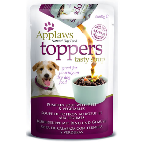 Applaws toppers dog buey
