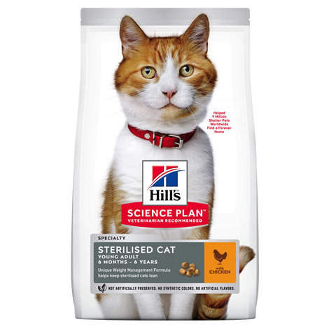 Pienso gatos Hills Young Adult Sterilised Pollo