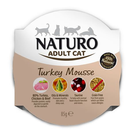 Naturo cat mousse pavo