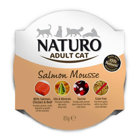 Naturo cat mousse salmón