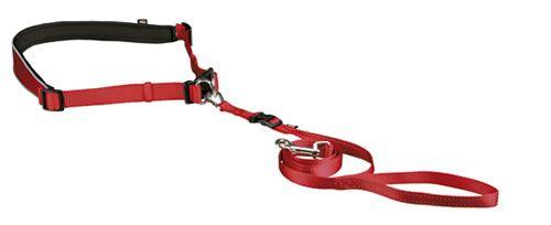 cinturón canicross rojo para correr