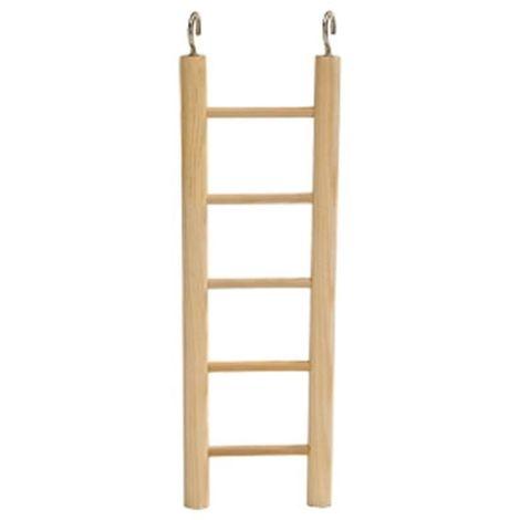 Escalera madera 4 pelda os perchas columpios para p jaros - Peldanos de escaleras ...