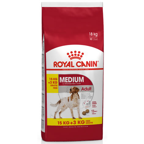 royal canin medium adult 15 3kg gratis pienso para perros al mejor precio. Black Bedroom Furniture Sets. Home Design Ideas
