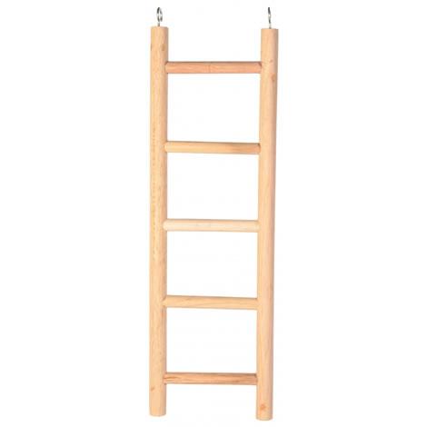 Escalera loros madera 5 pelda os for Escaleras 5 peldanos