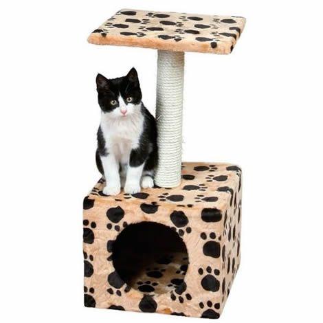 Poste Rascador Zamora Beige/Huellas | Rascadores para gatos.
